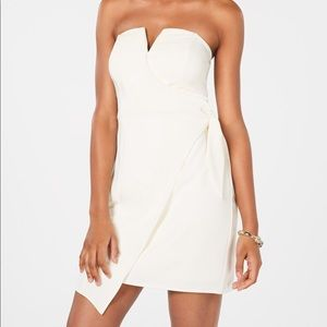 Trixxi white Knot-Front Dress